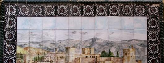 Alhambra na ulicznej ceramice