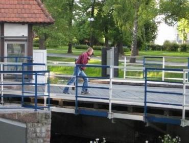 Most obrotowy - otwieranie