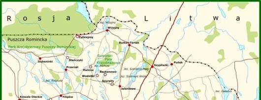Suwalszczyzna mapa - Autor: Wulfstan (Wikipedia)