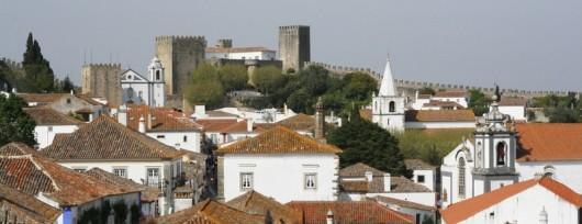 Obidos - widok na miasteczko z murów obronnych
