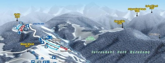 Bukowina Tatrzańska - mapa tras