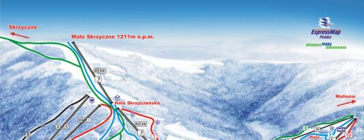 Mapa - Szczyrk - Wyciągi