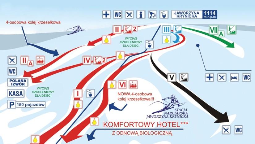 Jaworzyna Krynicka wyciągi i trasy narciarskie