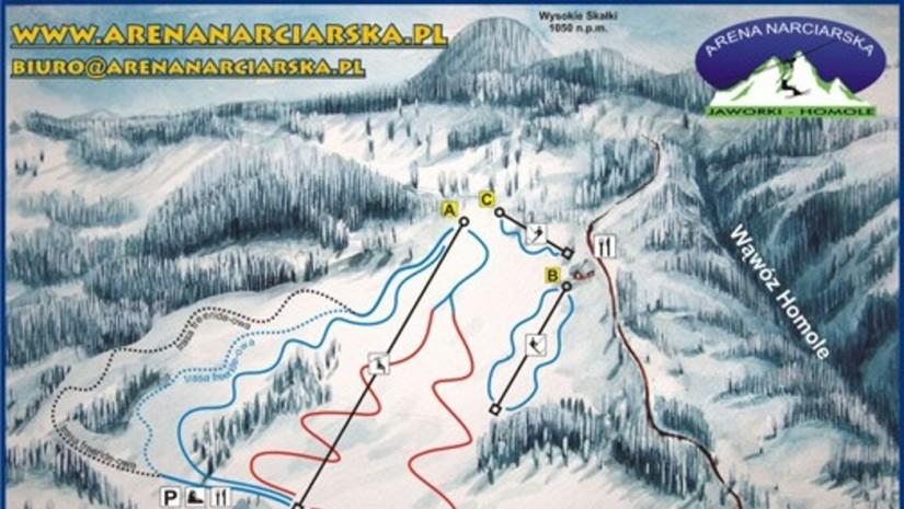 Jaworki trasy narciarskie i wyciągi