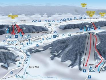 Ustrzyki Dolne - trasy i wyciągi