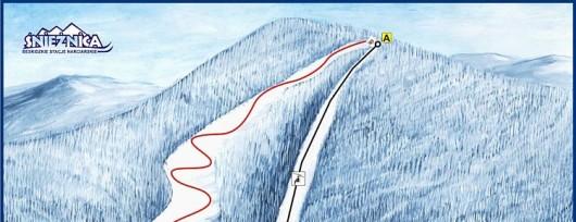 Mapa tras Śnieżyca w Kasinie Wielkiej