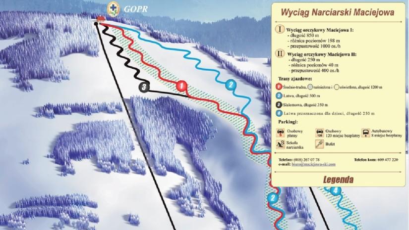 Mapa tras Maciejowa