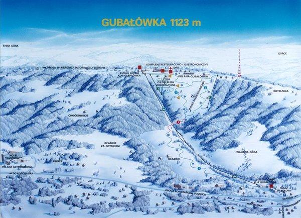 Gubałówka Kotelnica trasy