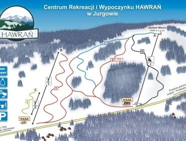 Hawrań Jurgów mapa tras