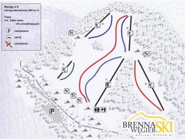 Trasy Brenna Węgierski Ski