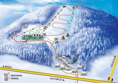 Mapa Tras - Poniwiec