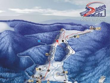Wisła - Stożek - Mapa Tras