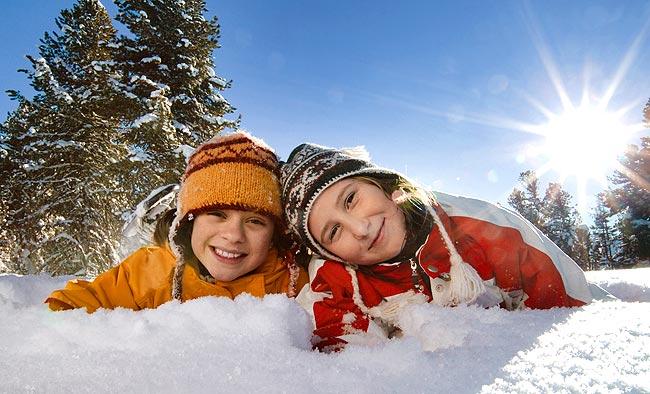 dzieciaki zimą