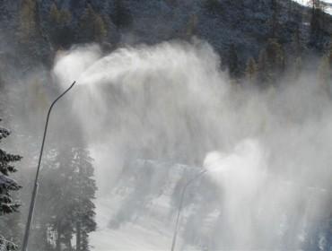 Armatki śnieżne w Krvavcu działają pełną parą