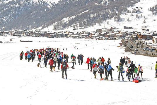 Wyścig na śnieżnych rakietach w Livigno