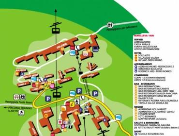 Marilleva 1400 - mapa