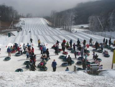 Snowtubing w Virginii