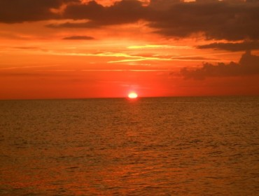 Zachód słońca w Dębkach