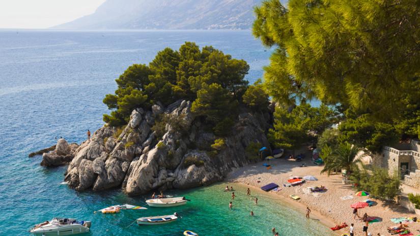 Plaża Brela w Chorwacji