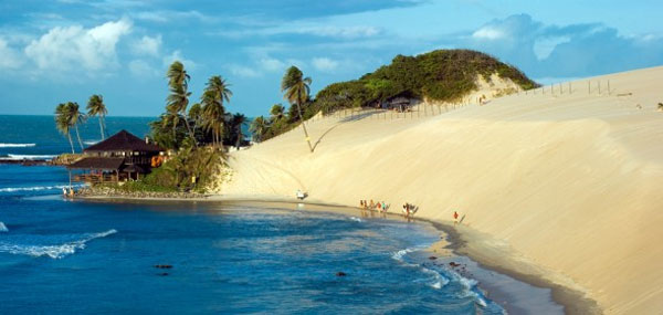 Plaża Genipabu w Brazylii to mini pustynia