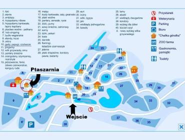 Plan ogrodu zoologicznego w Oliwie