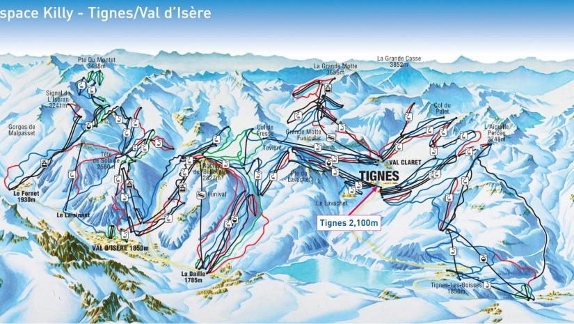 Tignes - mapa