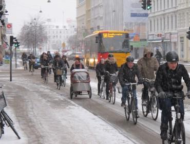 Styczniowy dzień jak co dzień w Kopenhadze