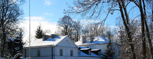Pałac w Warce zimą. Źródło: www.muzeumpulaski.pl