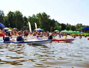 Plażowanie w Wieliszewie nad Narwią. Źródło: www.wieliszew.pl