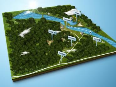 Mapka stawów w Zalesiu Górnym (źródło: Fanpage stawów w Zalesiu Górnym)
