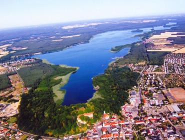 Panorama Sławy w woj. lubuskim na Pojezierzu Leszczyńskim
