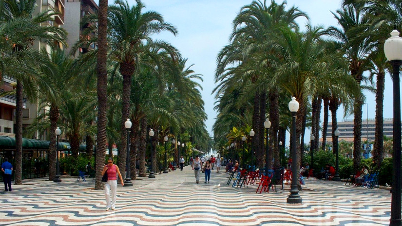 Mozaikowa Esplanada de España w Alicante