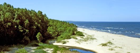 Łotwa plaże Bałtyku