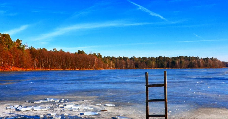 Tak Zalew Siczki wygląda zimą (fot. tu andy; źródło: google maps))