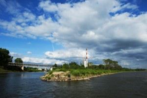 Początek Kanału Żerańskiego i elektrownia na Żeraniu