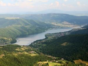 Jezioro Międzybrodzkie - widok z lotu ptaka