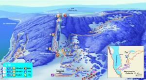 Mapa kompleksu rekreacyjno-sportowego Góra Żar