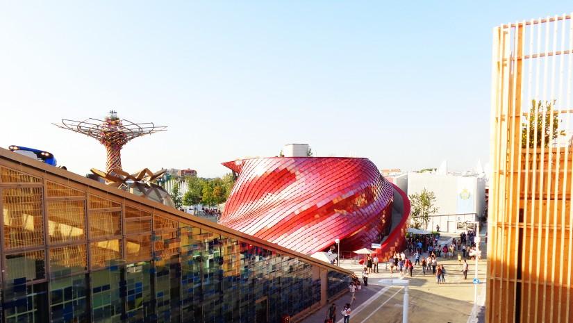 Widok z góry na Expo.