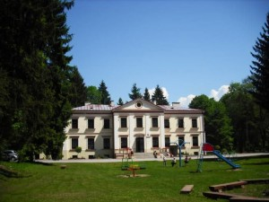 Pałac w Promnej - teraz szkoła
