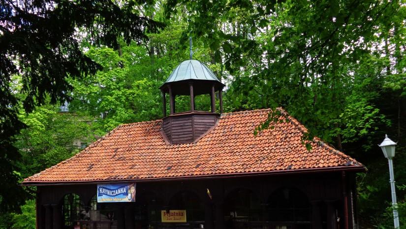 Ciemnobrązowy, drewniany budynek pijalni wód Jan oraz Józef pochodzi z 1933 r. W środku zrobiono galerię obrazów.
