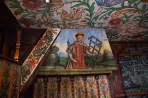 Malowane polichromie w kościele Św. Jana Chrzciciela w Orawce