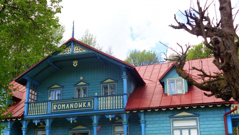 Romanówka – willa z połowy XIX w. w typowym dla Krynicy alpejskim stylu.