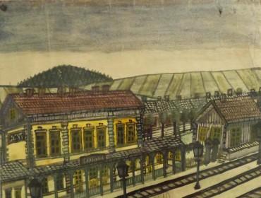 ''Stacja kolejowa Krosno''.