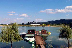Część ''łódkowa'' kąpieliska Chorwacja we wsi Jurków pod Czchowem