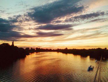 Kolejny zachód słońca nad Jeziorem Dziekanowskim